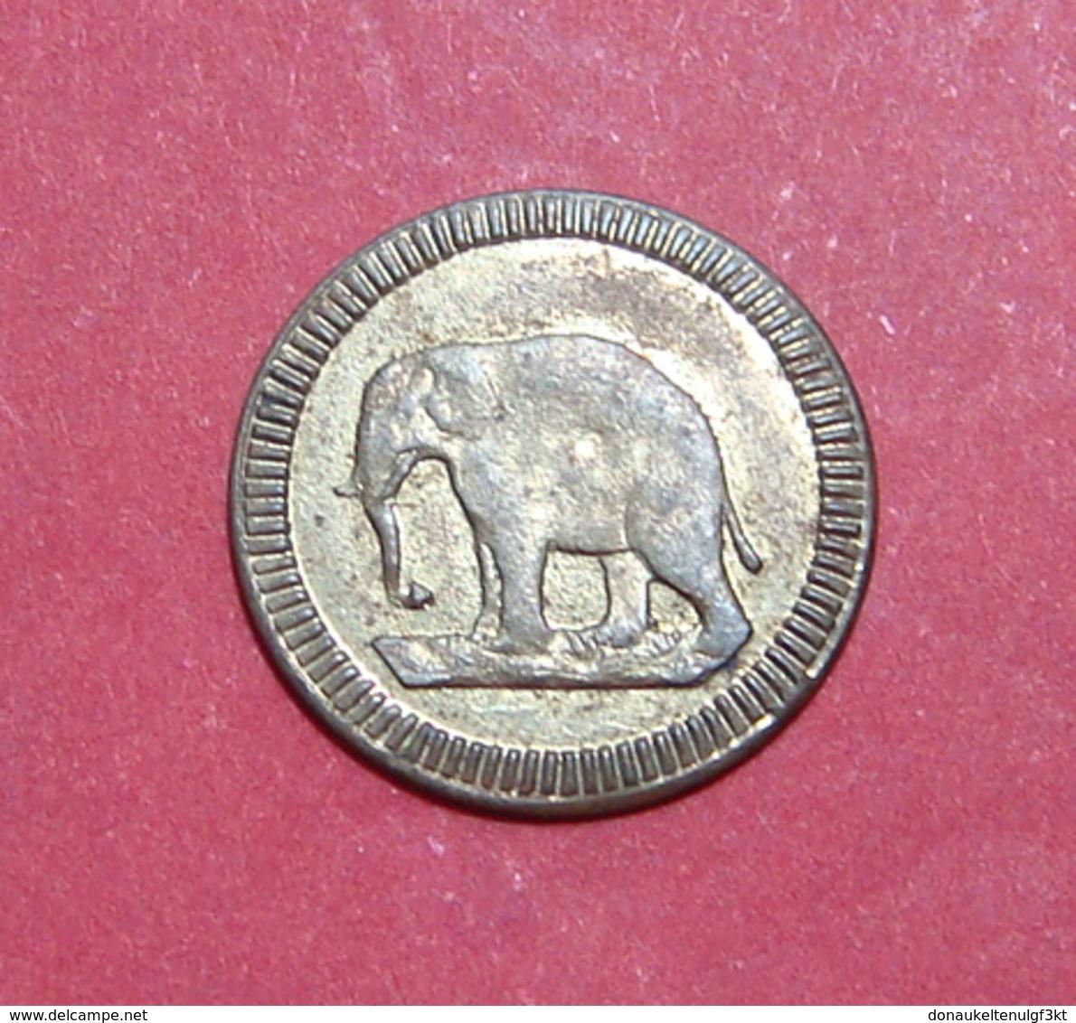 *ELEPHANT* GERMANY ND 1900 - 1920 SPIEL MARKE TOKEN, 15.2 Mm. UNC Quality - Casino