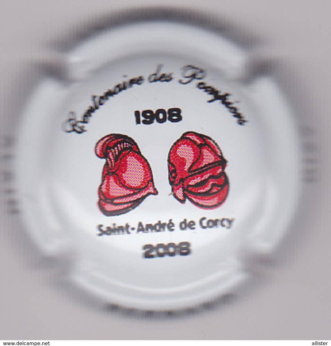 Capsule Champagne BERNARD Alain ( 10 ; Centenaire Des Pompiers SAINT-ANDRE DE CORCY ) {S08-19} - Champagne