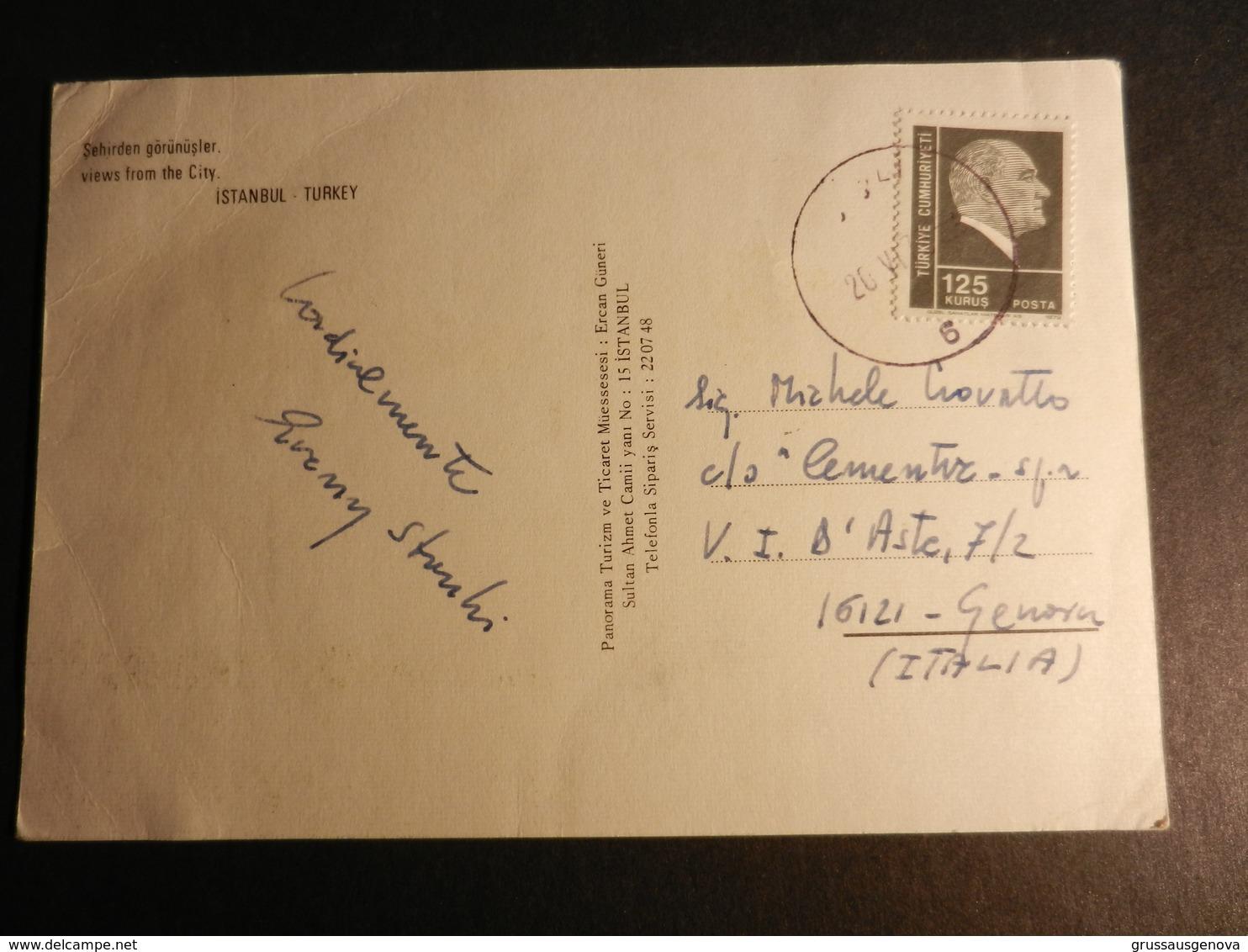 19881) ISTAMBUL SEHIRDEN GORUNUSLER VEDUTE VIAGGIATA - Turchia