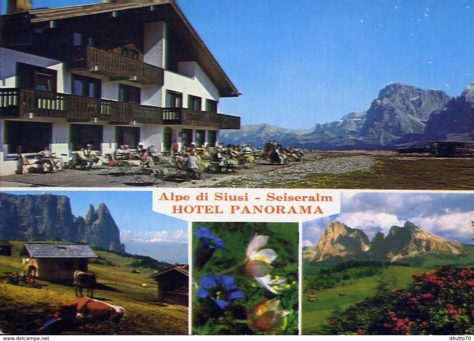 Alpe Di Siusi - Hotel Panorama - Formato Grande Non Viaggiata – E 10 - Hotels & Restaurants