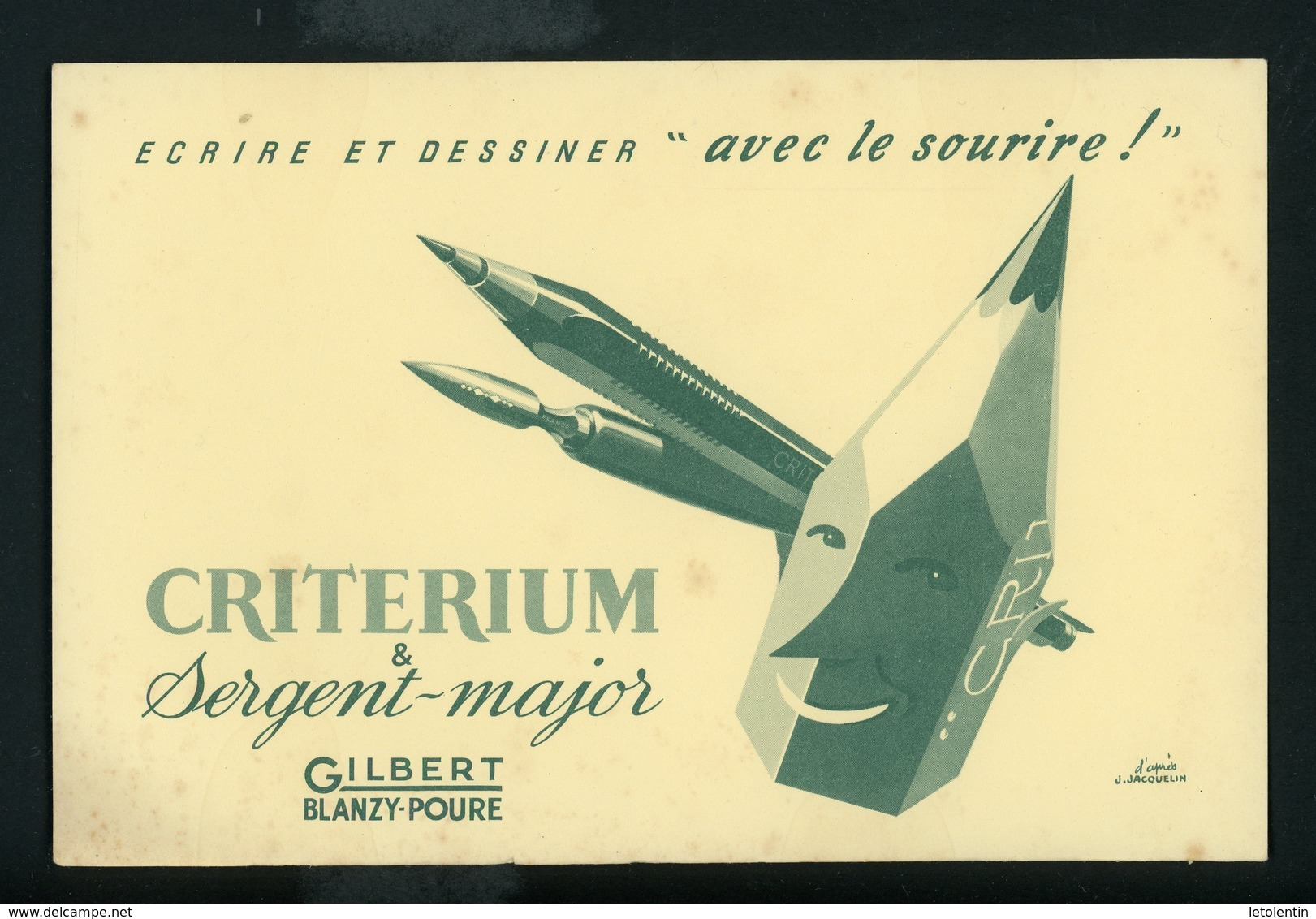 BUVARD:  CRITERIUM GIBERT - FORMAT 14X21 Cm - Papeterie