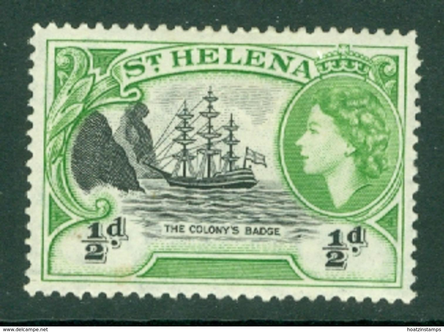 St Helena: 1953/59   QE II - Pictorial     SG153    ½d       MH - Saint Helena Island