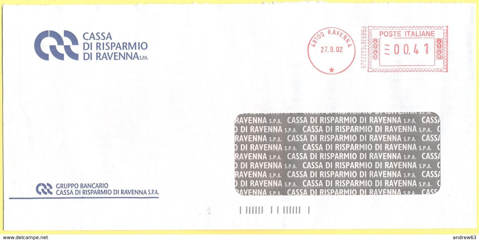 ITALIA - ITALY - ITALIE - 2002 - 00,41€ EMA, Red Cancel - Cassa Di Risparmio Di Ravenna - Viaggiata Da Ravenna - Affrancature Meccaniche Rosse (EMA)