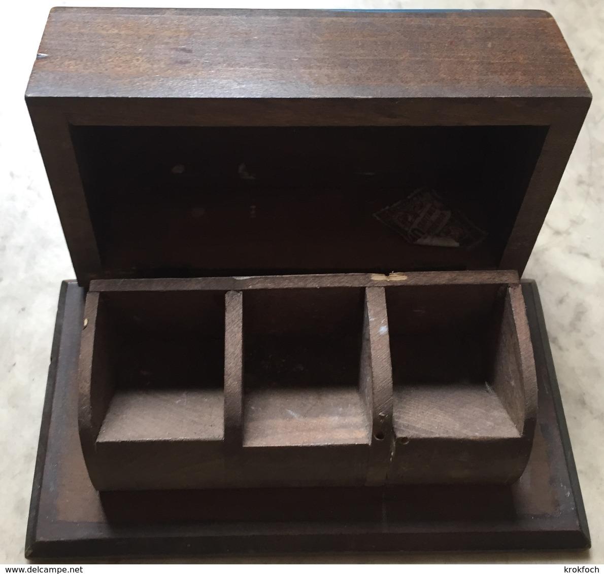 Boîte à Timbres Bretagne Yvan - Breton & Bretonne - Bois - 12,5 Cm X 6,7 Cm X 4 Cm - Boites A Timbres