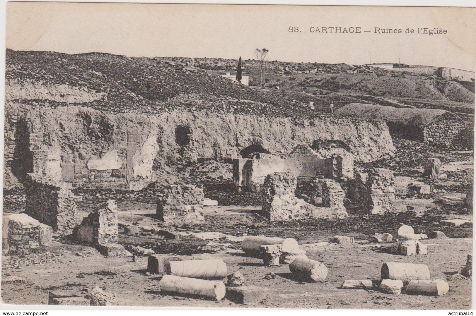 Tunisie: CPA: Carthage: Ruines De L'eglise - Tunisia