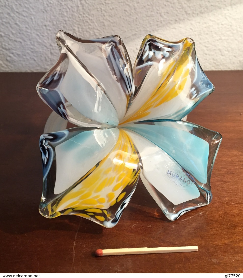 Jolie Fleur En Verre Soufflé MURANO - Glass & Crystal