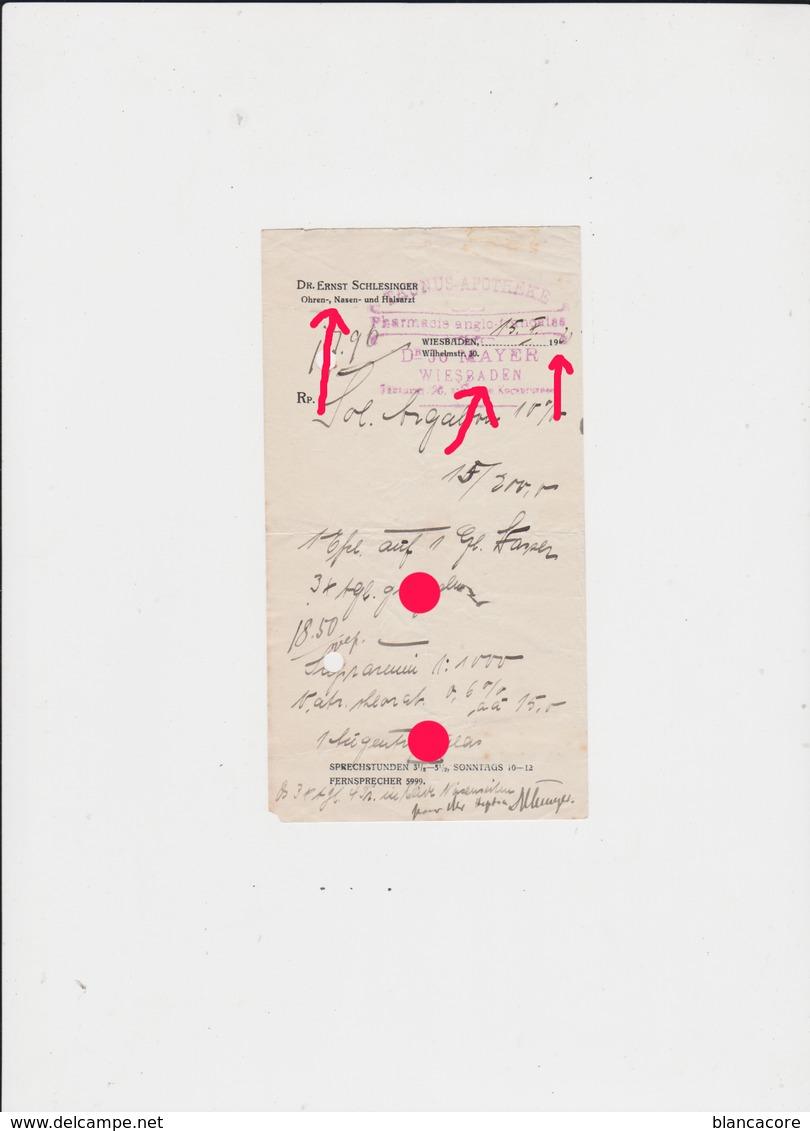 WIESBADEN 1921 Dr ERNST SCHLESINGER & JO MAYER - Allemagne