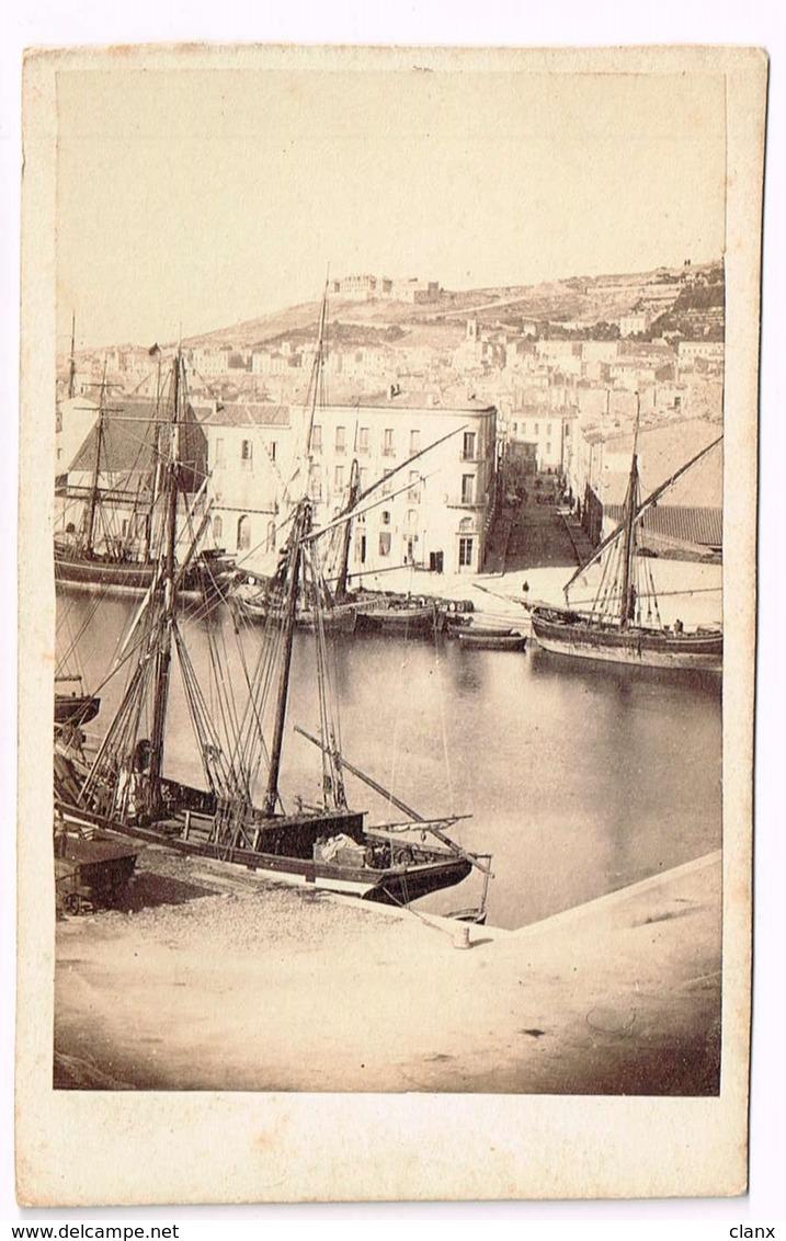 CETTE Sète (Hérault)  CDV 1866 Port + Bateau - Photos