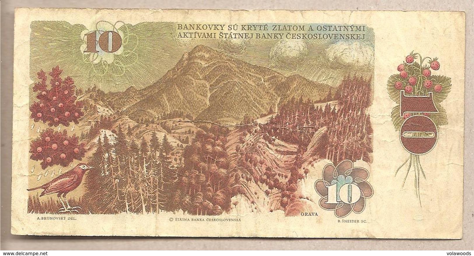 Cecoslovacchia - Banconota Circolata Da 10 Corone P-94 - 1986 - Tchécoslovaquie