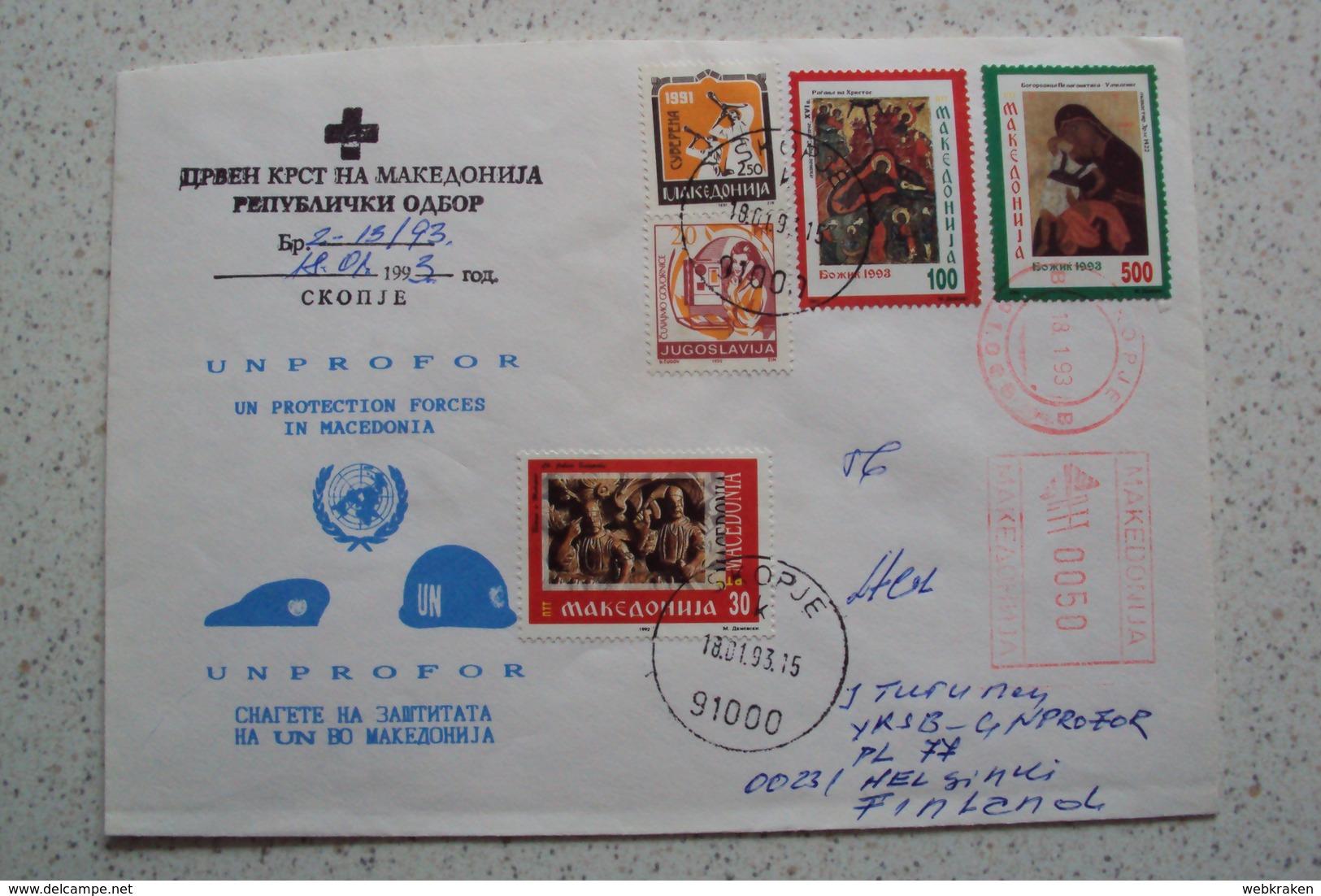 MISSIONI INTERNAZIONALI ONU NATO MISSIONE UNPROFOR BOSNIA DA SKOPJE MACEDONIA MACHEDOHNIA 1993 - Macedonia