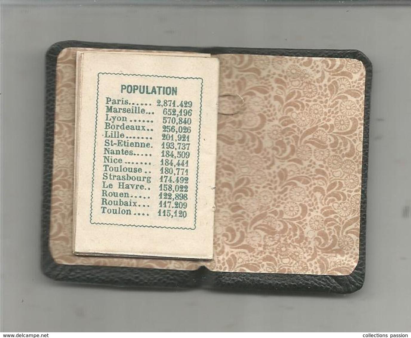 Petit Calendrier De Poche,1929 ,24 Pp ,fêtes Mobiles,postes Lettres-imprimés-télégraphe-échantillons,population, 2 Scans - Calendriers