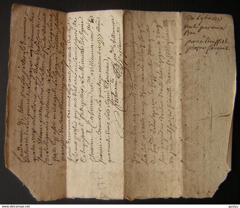 1777 Châtellenie De Villeneuve La Comtesse, Vente De Anne Bon à Pierre Rousset - Manuscripts