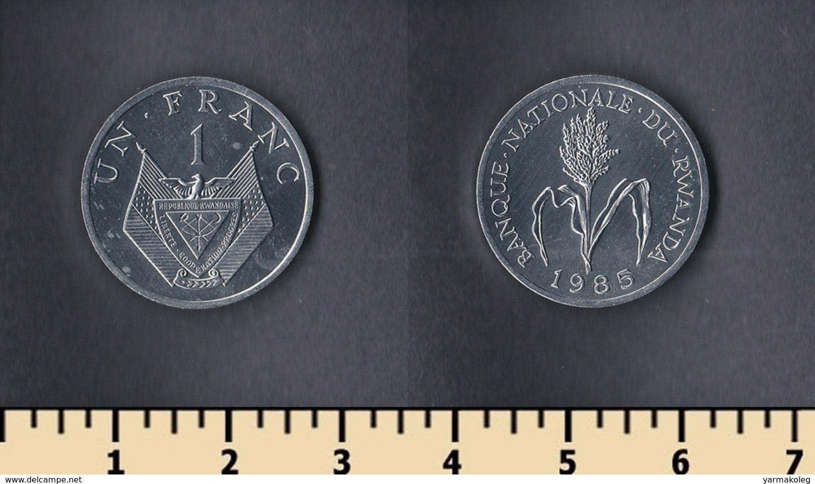 Rwanda 1 Franc 1985 - Rwanda