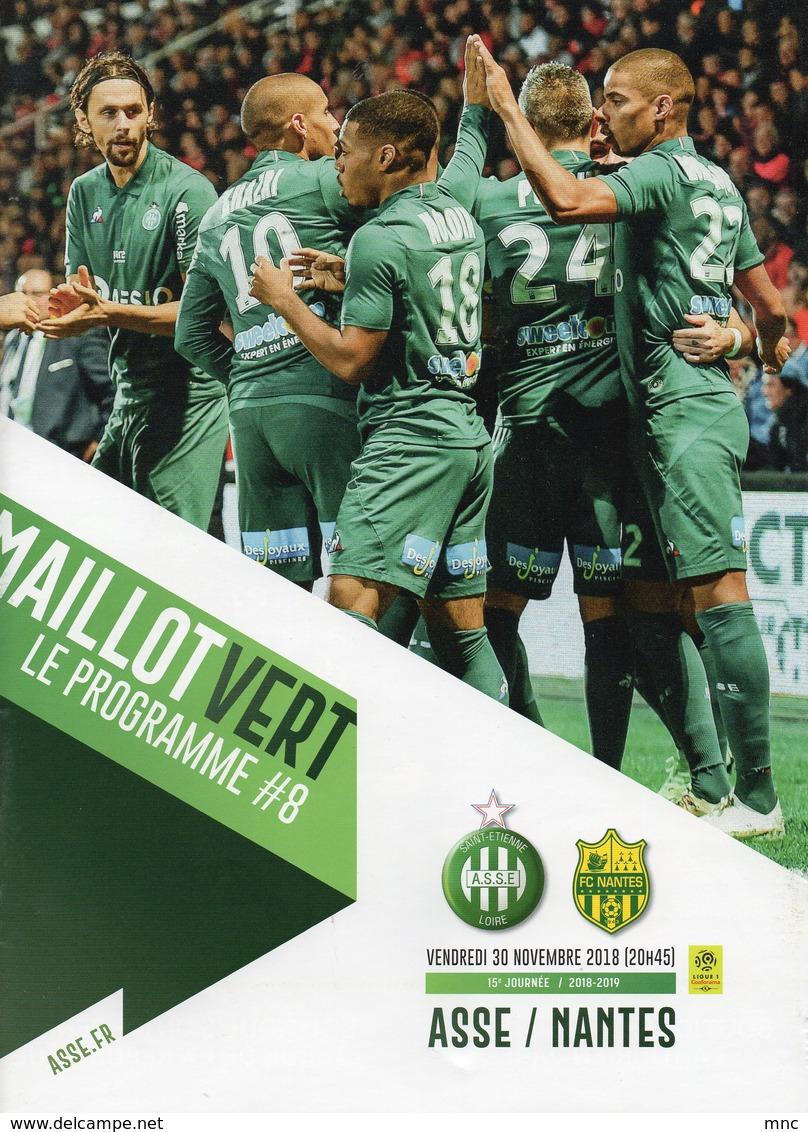 Programme Du Match ASSE  NANTES Du 30 Novembre 2018 - Habillement, Souvenirs & Autres