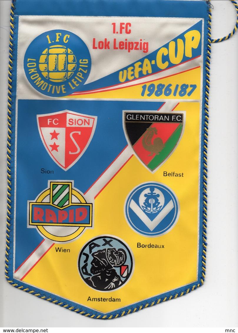 Fanion Lokomotiv Leipzig Bordeaux Coupe UEFA 1986/87 - Habillement, Souvenirs & Autres