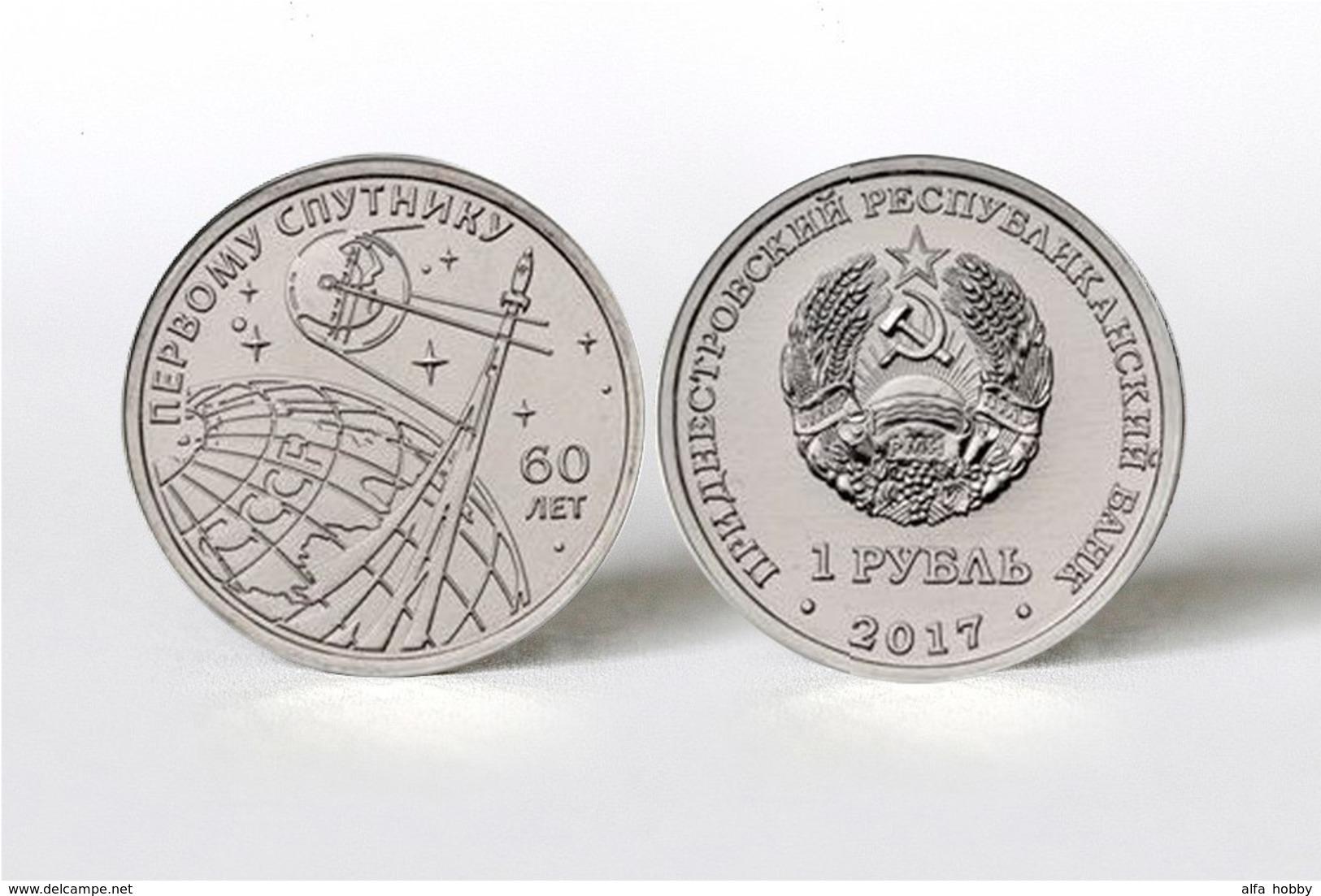 PMR Transnistrija, 2017, Space, 1st SPUTNIK 1 Rbl Rubel - Russland