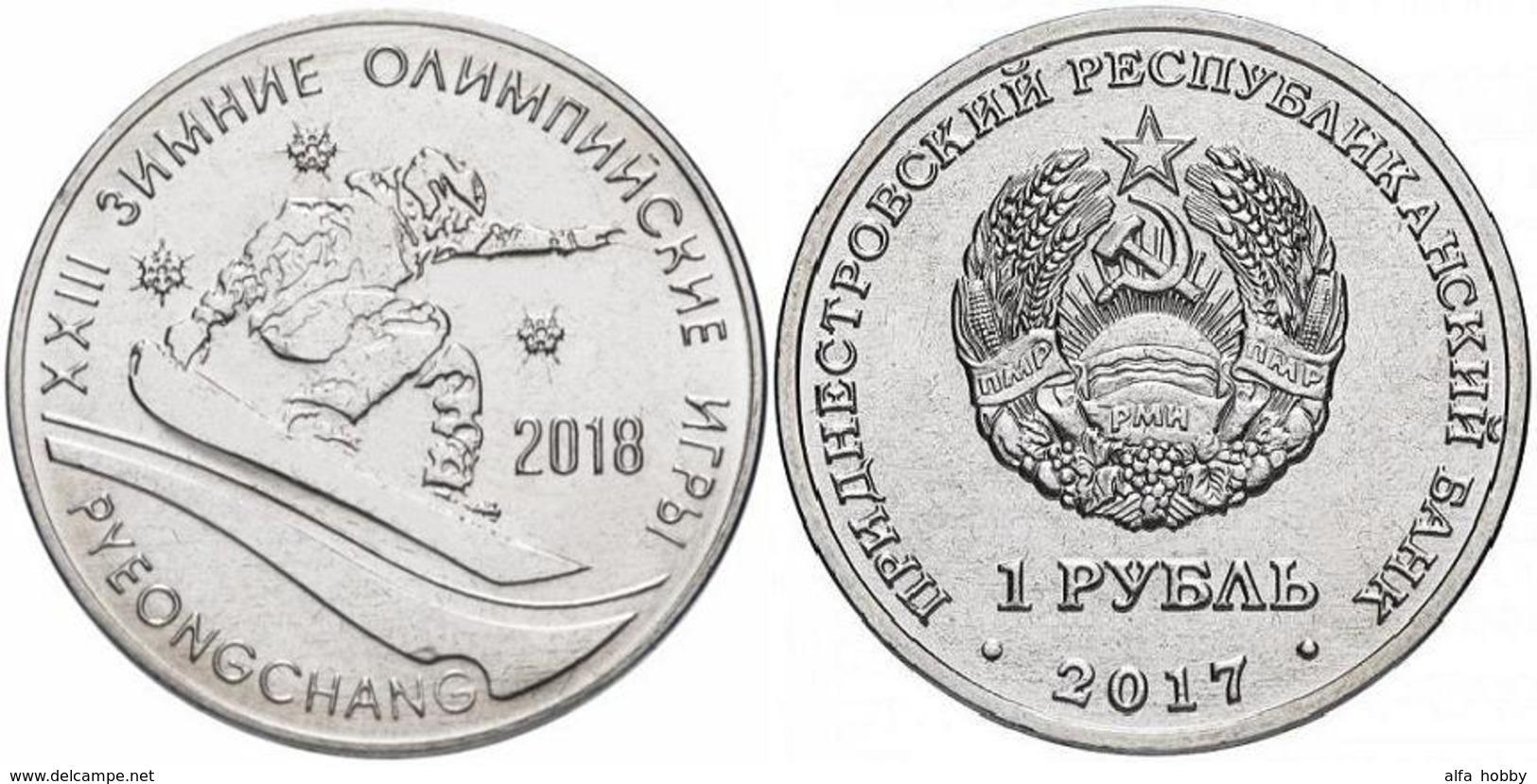PMR Transnistrija,2017, 1 Rbl, Rubel Winter Olympic 2018 - Russland