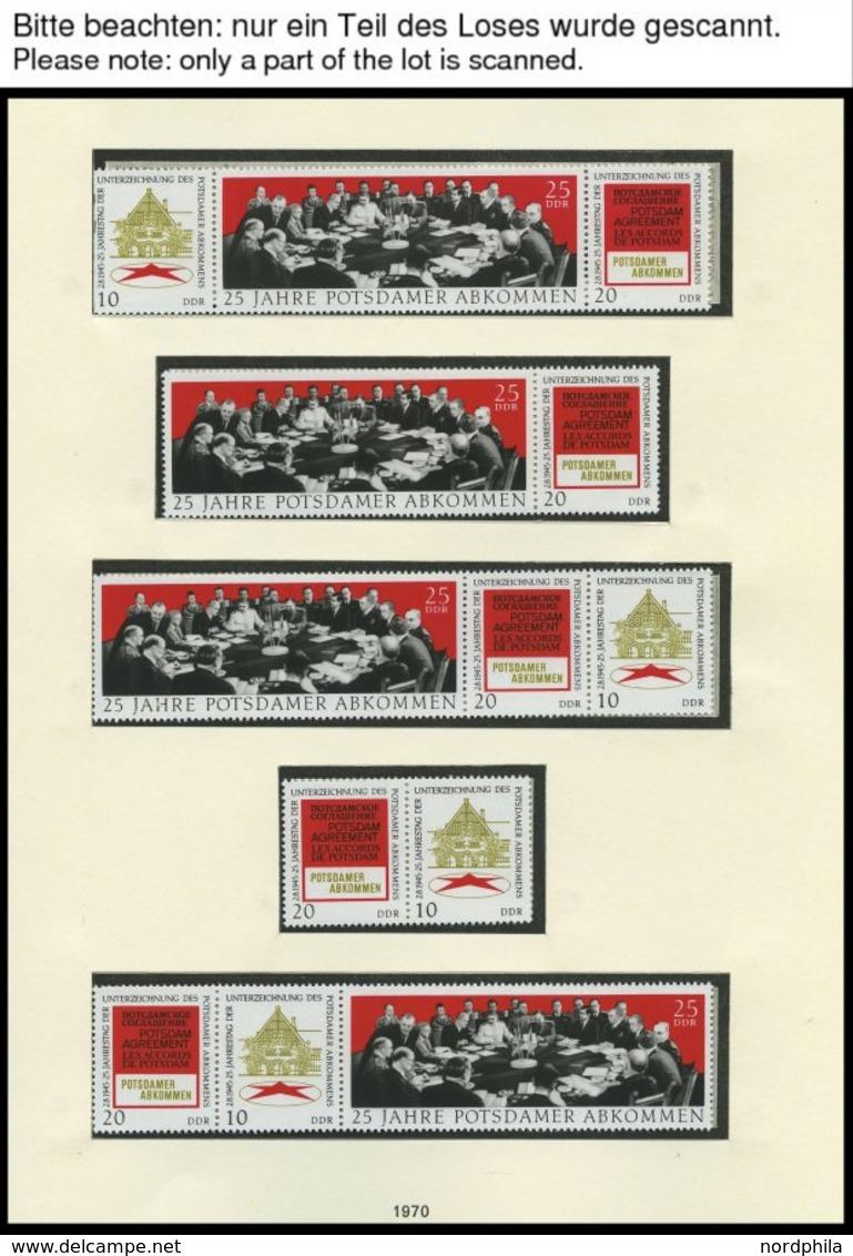 SAMMLUNGEN **, Komplette Postfrische Teilsammlung DDR Von 1969-72 Im SAFE Falzlosalbum, Dazu Diverse Zusammendrucke, Pra - Deutschland