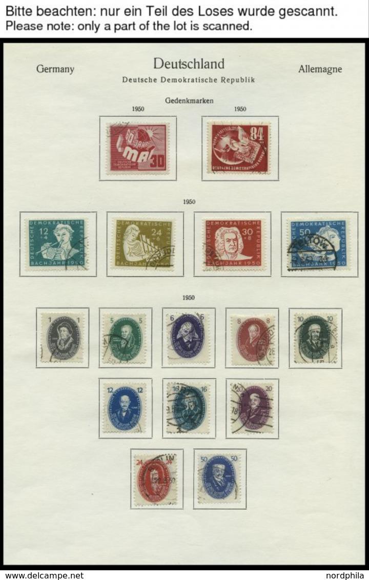 SAMMLUNGEN O, Gestempelter Sammlungsteil DDR Von 1949-55, Bis Auf Block 7,8/9 Und 13 Sowie Mi.Nr. 327-41 Komplett, Feins - Deutschland