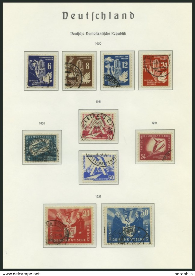 SAMMLUNGEN O, 1949-53, Kleiner Sammlungsteil DDR Auf Falzlosseiten, Meist Pracht - Deutschland