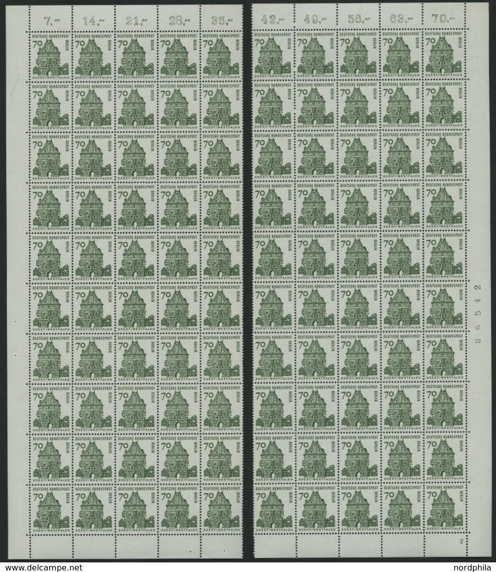 ENGROS 248 **, 1965, 70 Pf. Osthofentor, 40 Waagerechte Paare In 2 Bogenteilen, Pracht, Mi. 1400.- - Deutschland