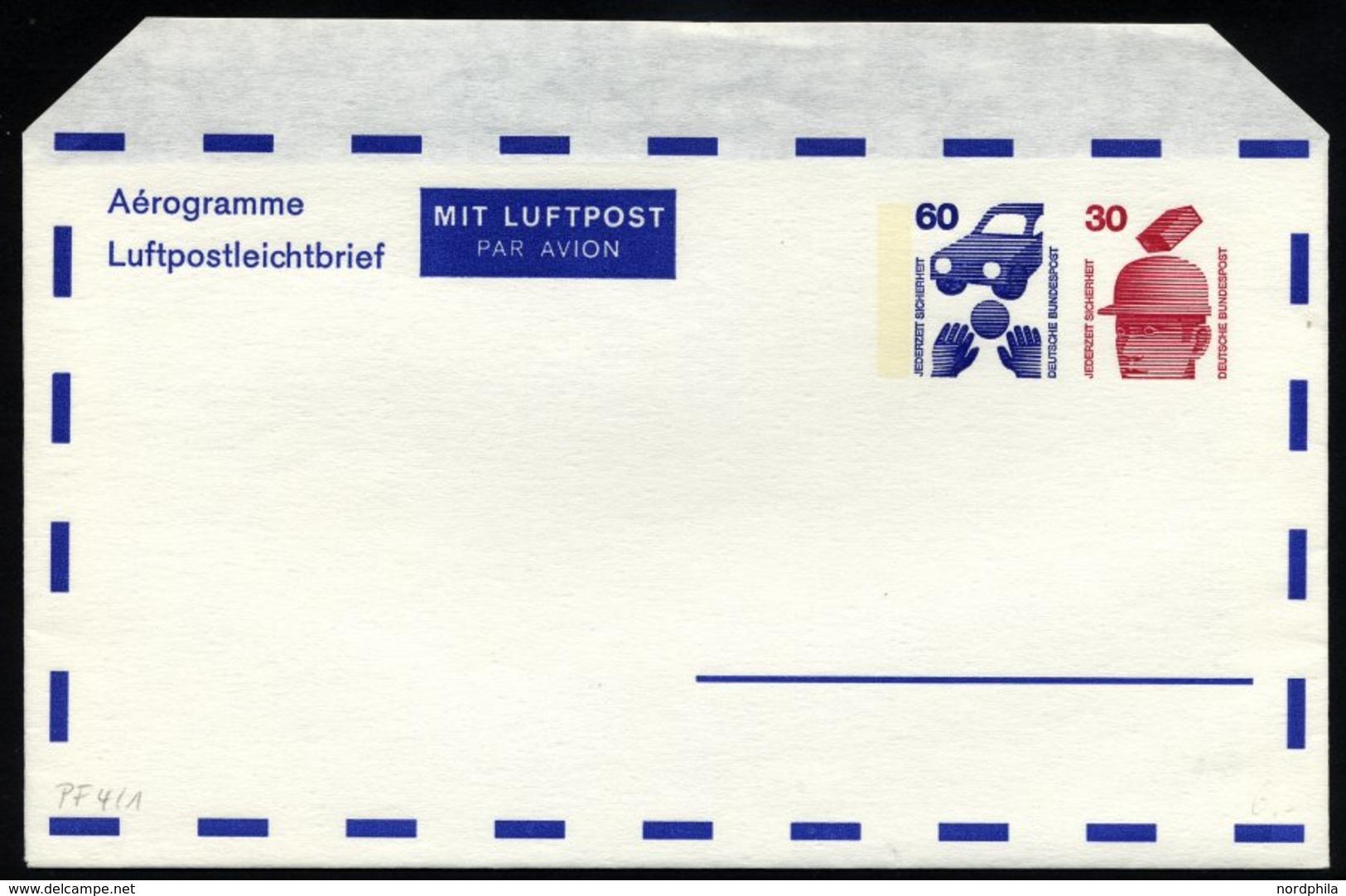 GANZSACHEN Aus PF 3a-30 BRIEF, 1972-78, 4 Verschiedene Gebrauchte Und Ein Ungebrauchter Privatfaltbrief, Pracht - Deutschland