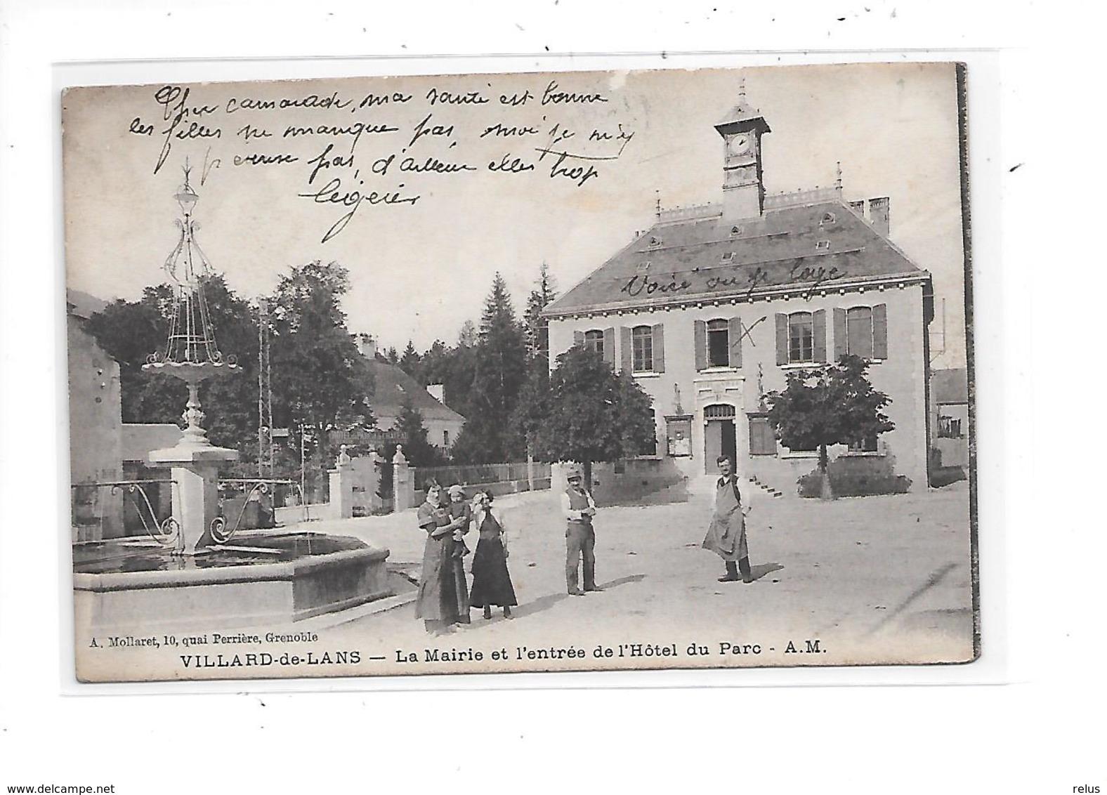 DEP. 38 VILLARD DE LANS LA MAIRIE ET L'ENTREE DE L'HOTEL DU PARC - Villard-de-Lans