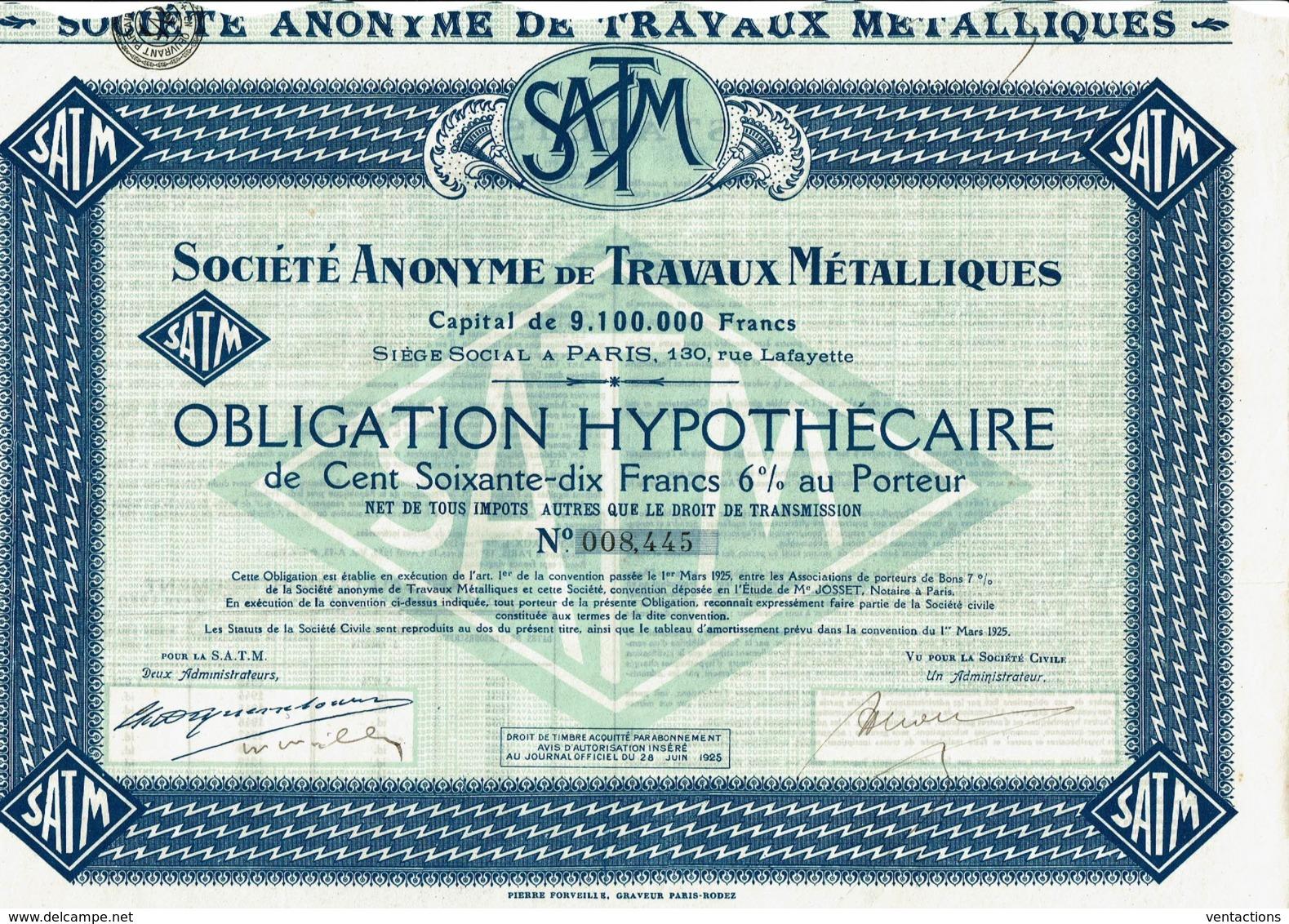 75-TRAVAUX METALLIQUES. 130 Rue Lafayette Paris - Other