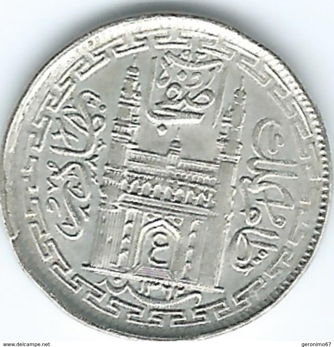 India - Princely States - Hyderabad - Mir Usman Ali Khan - 2 Anna - AH1362 (1943) (KMY60) - Inde