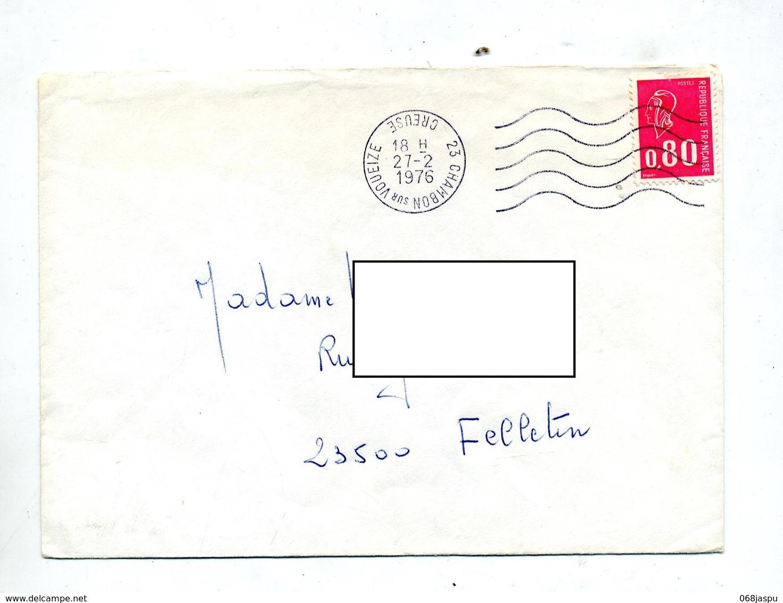 Lettre Flamme Muette Chambon Curiosite Envers - Marcophilie (Lettres)