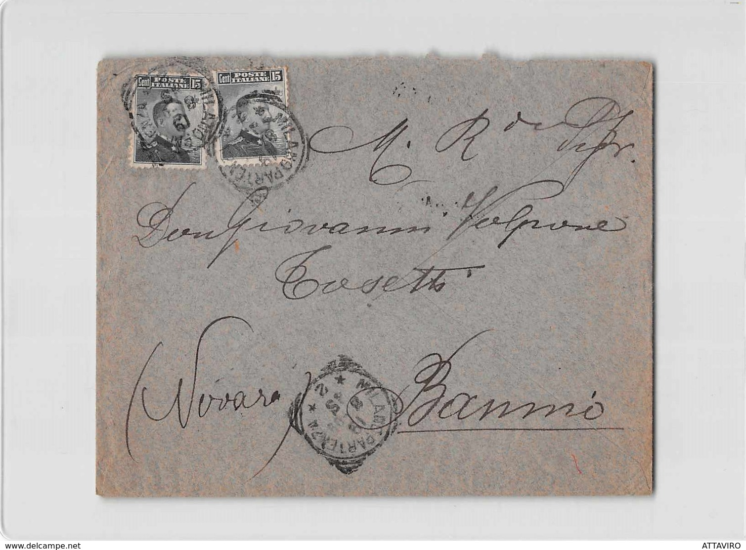 11914 03  VOLPONE TOSETTI DROGHERIA VINI LIQUORI MILANO X BANNIO - Marcophilie