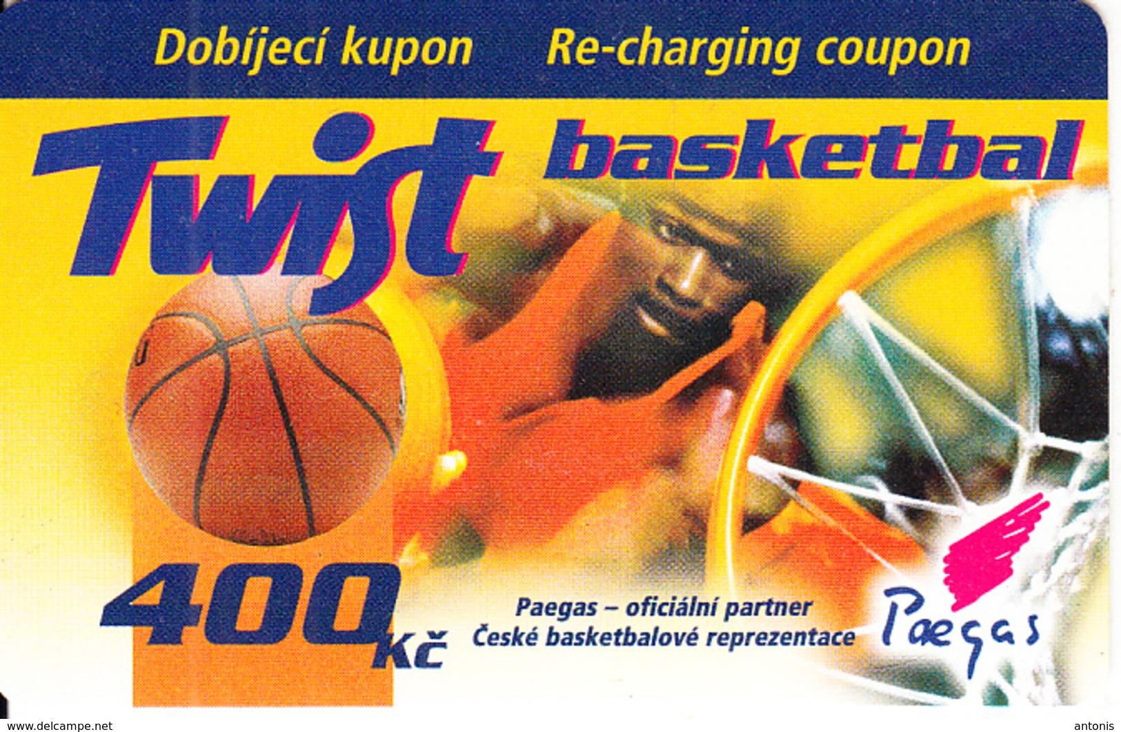 CZECH REPUBLIC - Basketball, Twist By Paegas Prepaid Card 400 Kc, No Exp.date, Used - Tchéquie