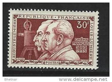 "FR YT 1033 "" Frères Lumière "" 1955 Neuf* - France"
