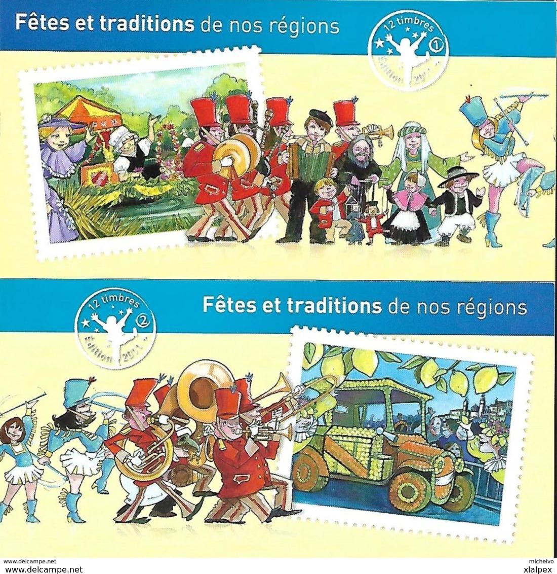 2011 Carnets C566-C578 Fêtes Et Traditions De Nos Régions - Adhésifs (autocollants)