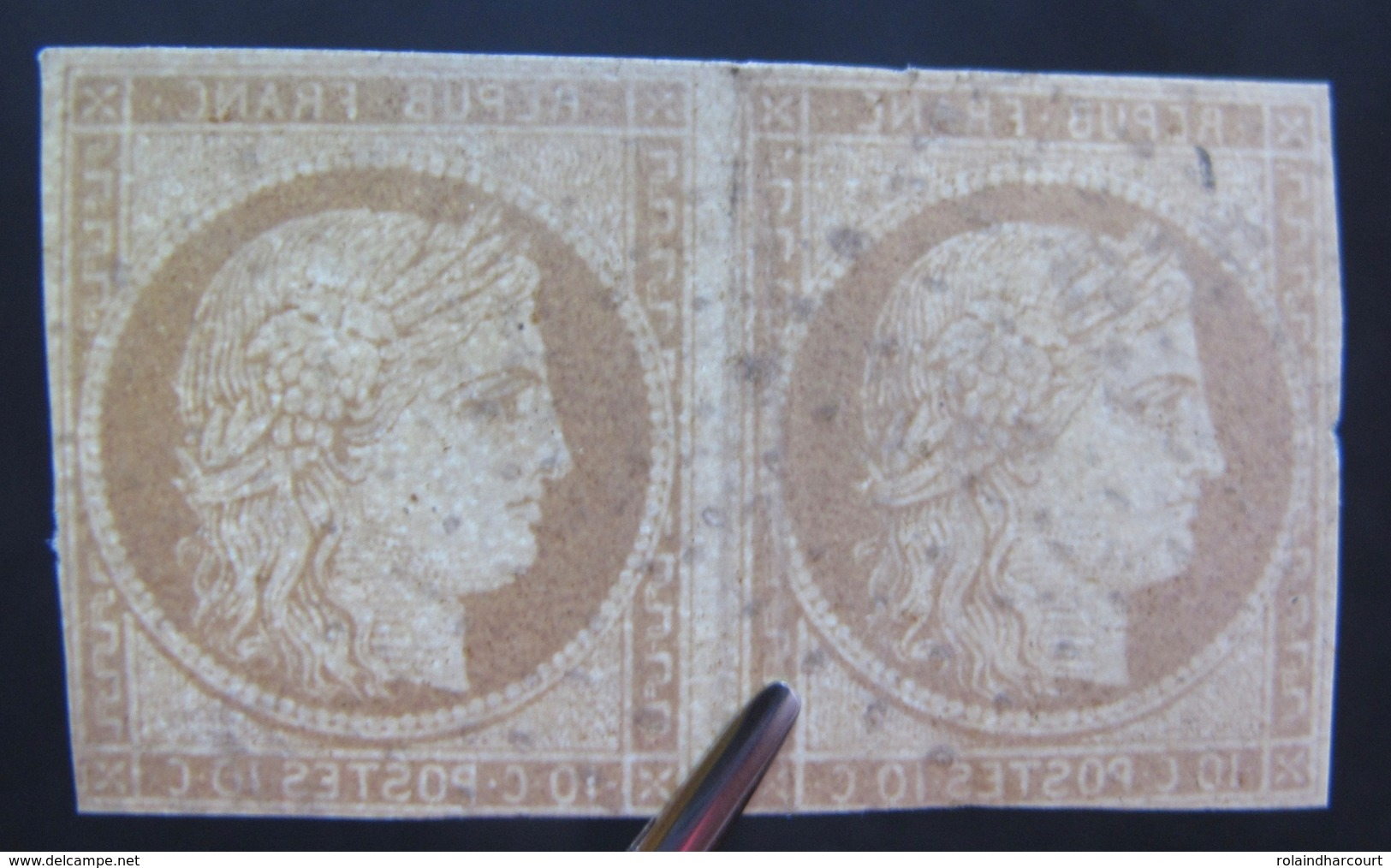 DF50500/271 - CERES (PAIRE) N°1 - Petits Défauts (aucun Pelurage) - Cote : 825,00 € - 1849-1850 Ceres