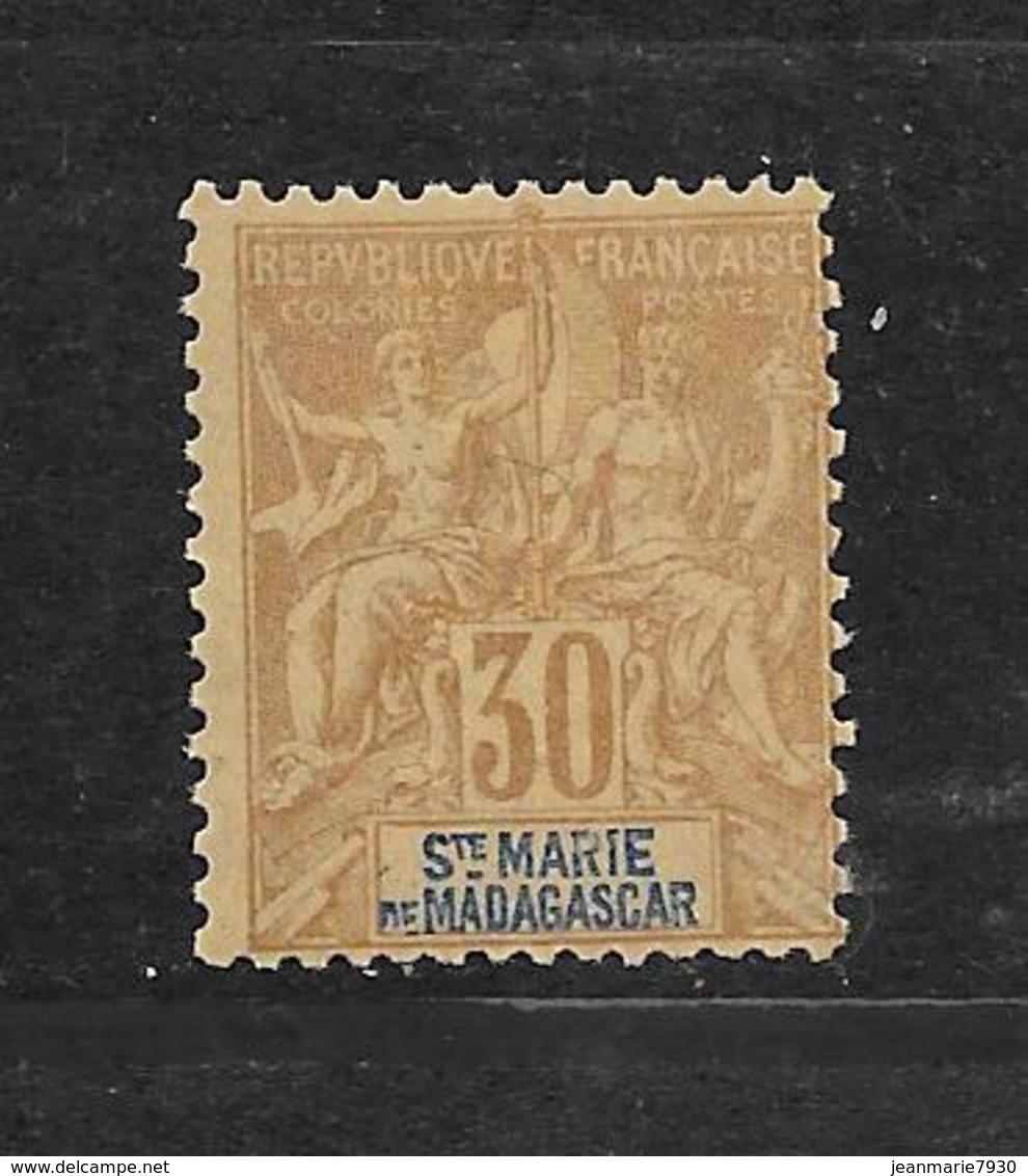 SAINTE MARIE DE MADAGASCAR - N° 9 NEUF * - COTE = 20.00 € - Madagaskar - Sainte-Marie (1894-1898)