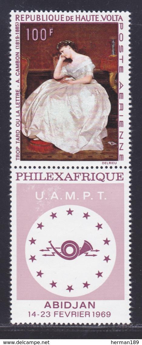 HAUTE-VOLTA AERIENS N°   60 ** MNH Neuf Sans Charnière, TB (D8625) Exposition Philexafrique, Tableau - 1968 - Alto Volta (1958-1984)