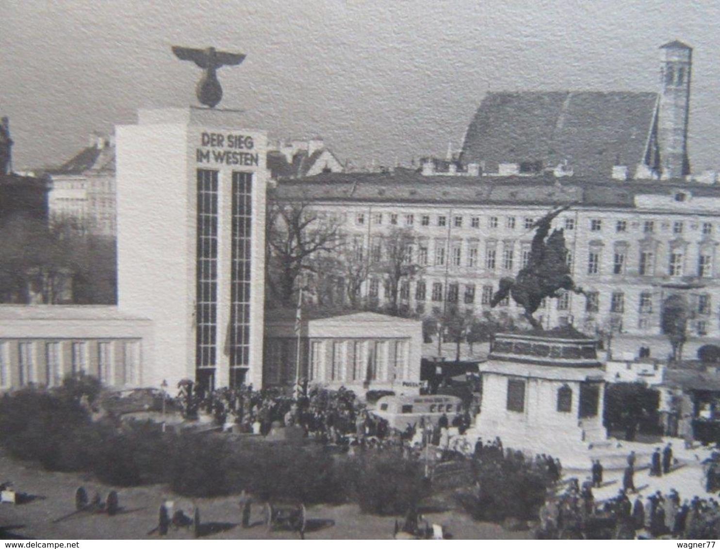 """Postkarte Ausstellung """"der Sieg Im Westen"""" Wien - Briefe U. Dokumente"""