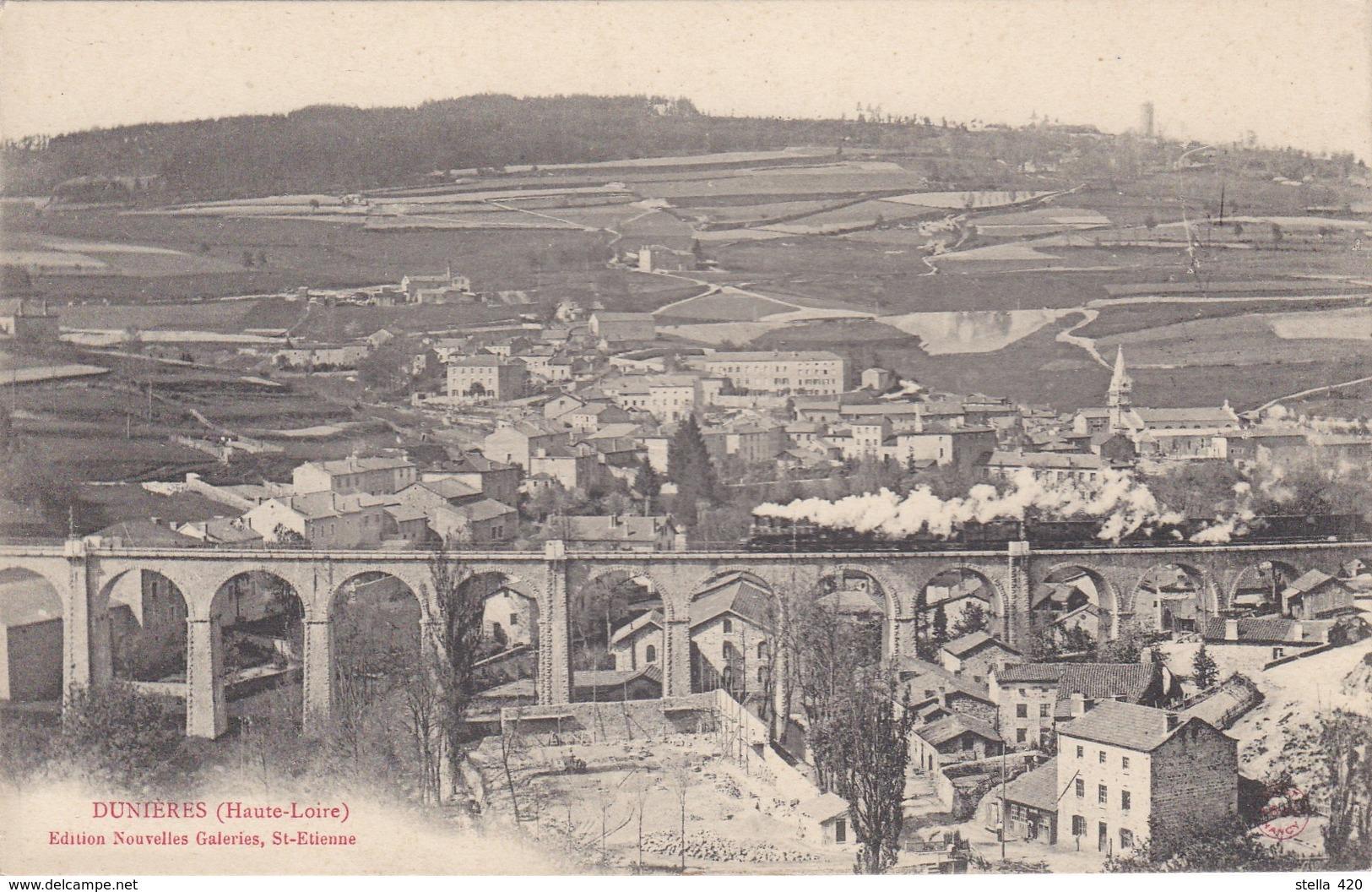 Dunieres   12 Fevrier  1901 Et Pont Avec Train  2 Cartes - Autres Communes