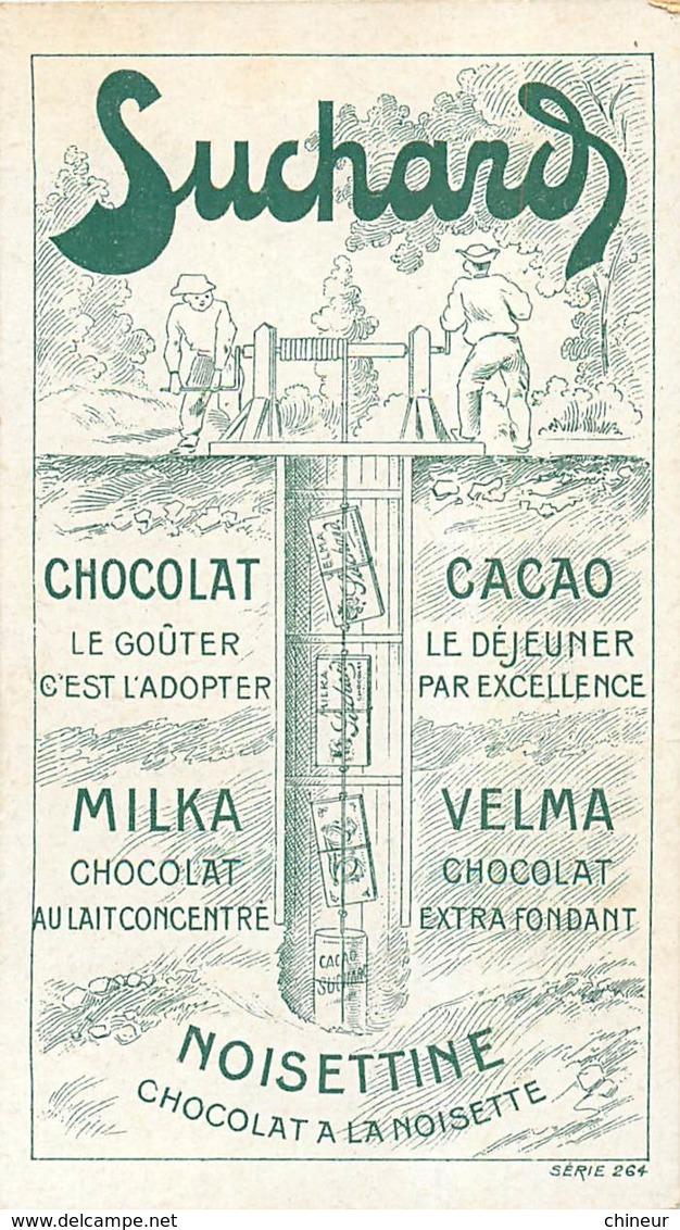 CHROMO CHOCOLAT VELMA SUCHARD CONSTRUCTION D'UNE GALERIE - Suchard