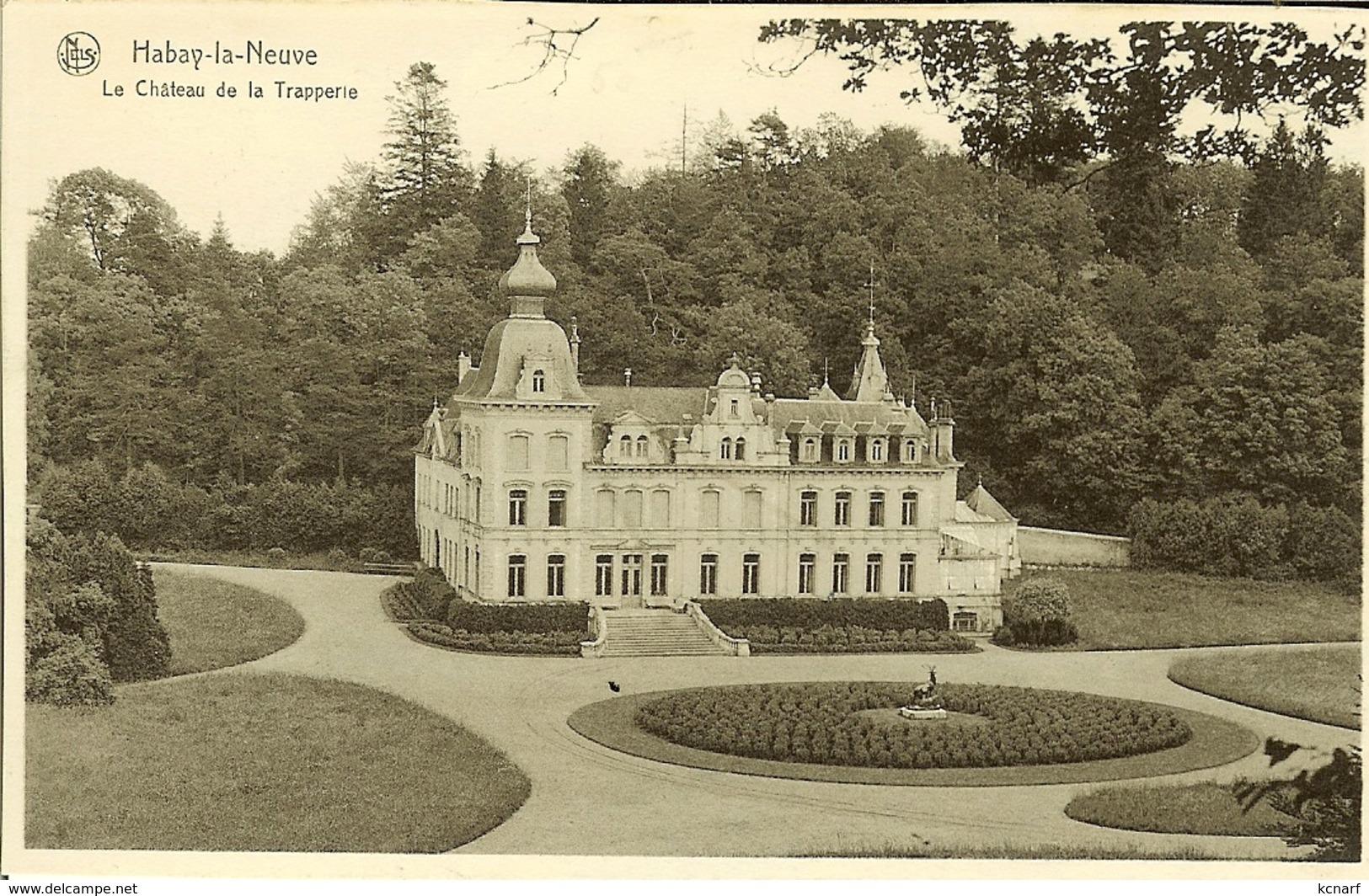 """CP De HABAY-la-NEUVE """" Le Château De La Trapperie """" - Habay"""