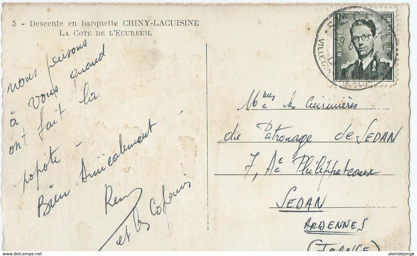 Chiny - 5 - Chiny-Lacuisine - Descente En Barquette - La Cote De L'Ecureuil - 1958 - Chiny