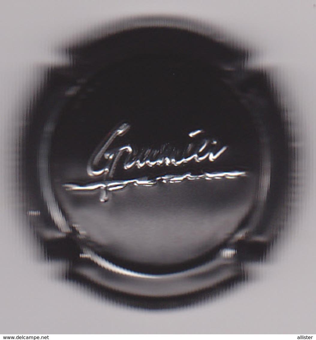 Capsule Champagne GRUMIER ( Nr ; Noir Et Métal , Nom En Relief ) {S08-19} - Champagne
