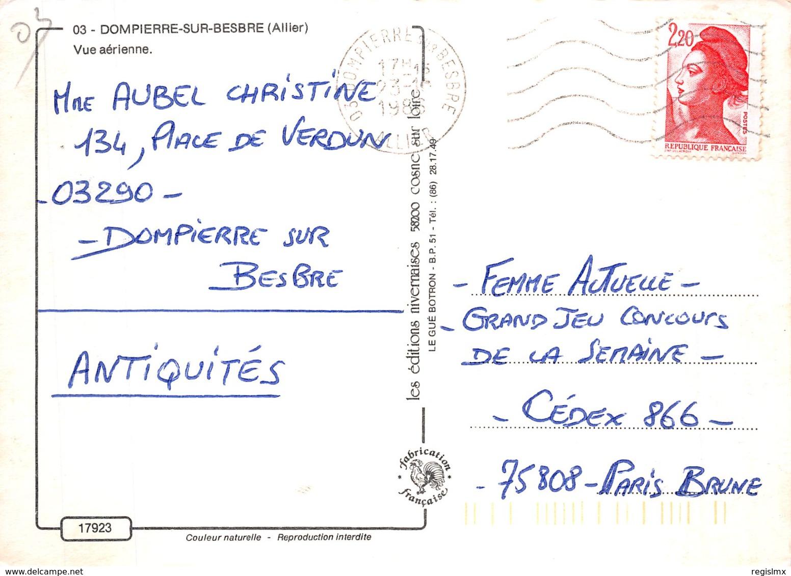 03-DOMPIERRE SUR BESBRE-N°2178-D/0207 - Autres Communes