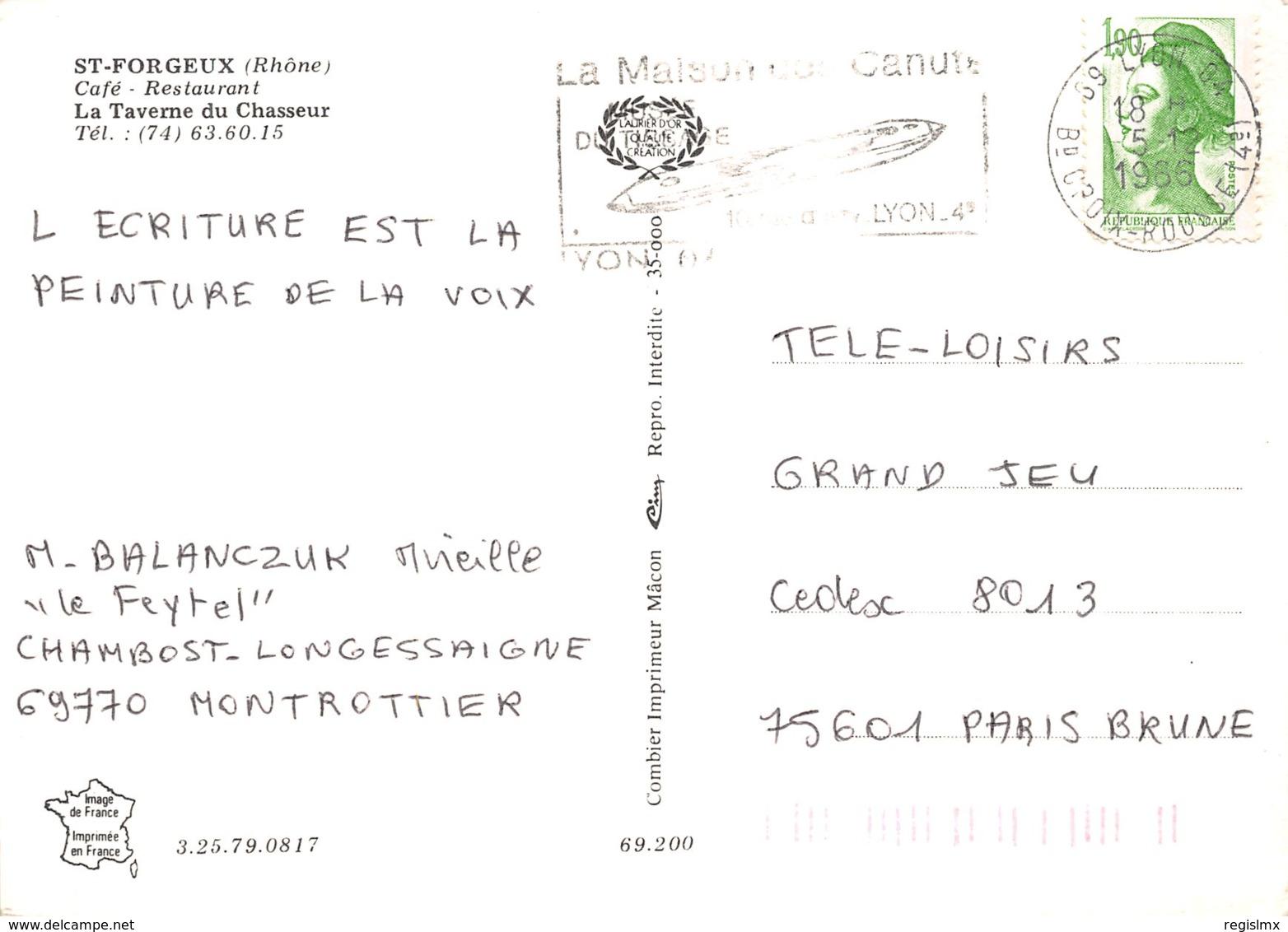 69-SAINT FORGEUX-N°2198-C/0363 - Autres Communes