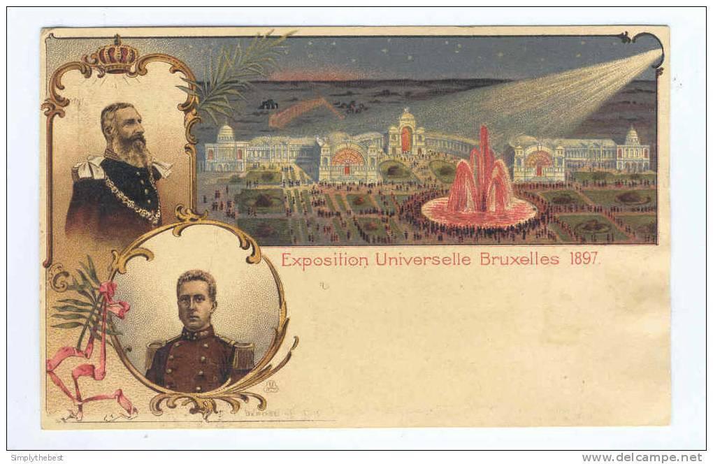 Carte Postale Illustrée No 1 Exposition Universelle De Bruxelles 1897 - Etat NEUF   -- HH/506 - Illustrierte Karten