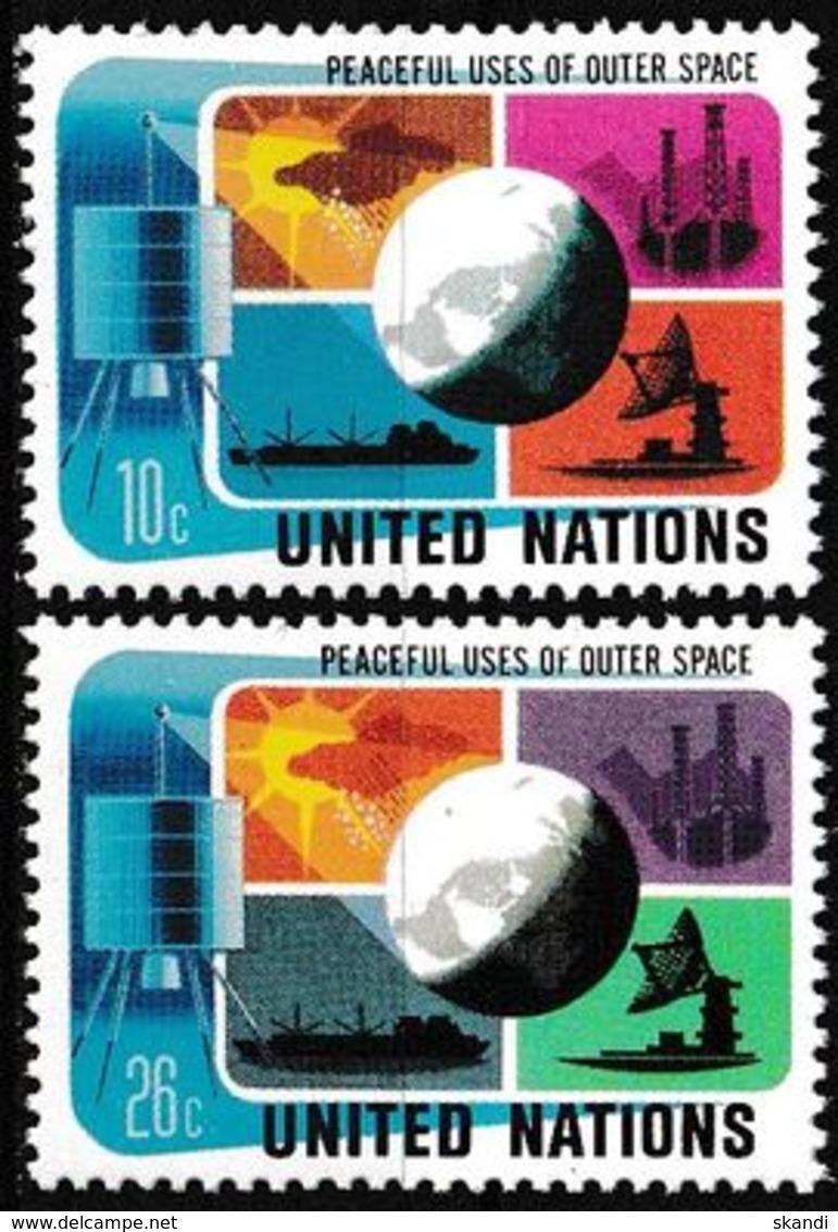 UNO NEW YORK 1975 Mi-Nr. 279/80 ** MNH - New York -  VN Hauptquartier
