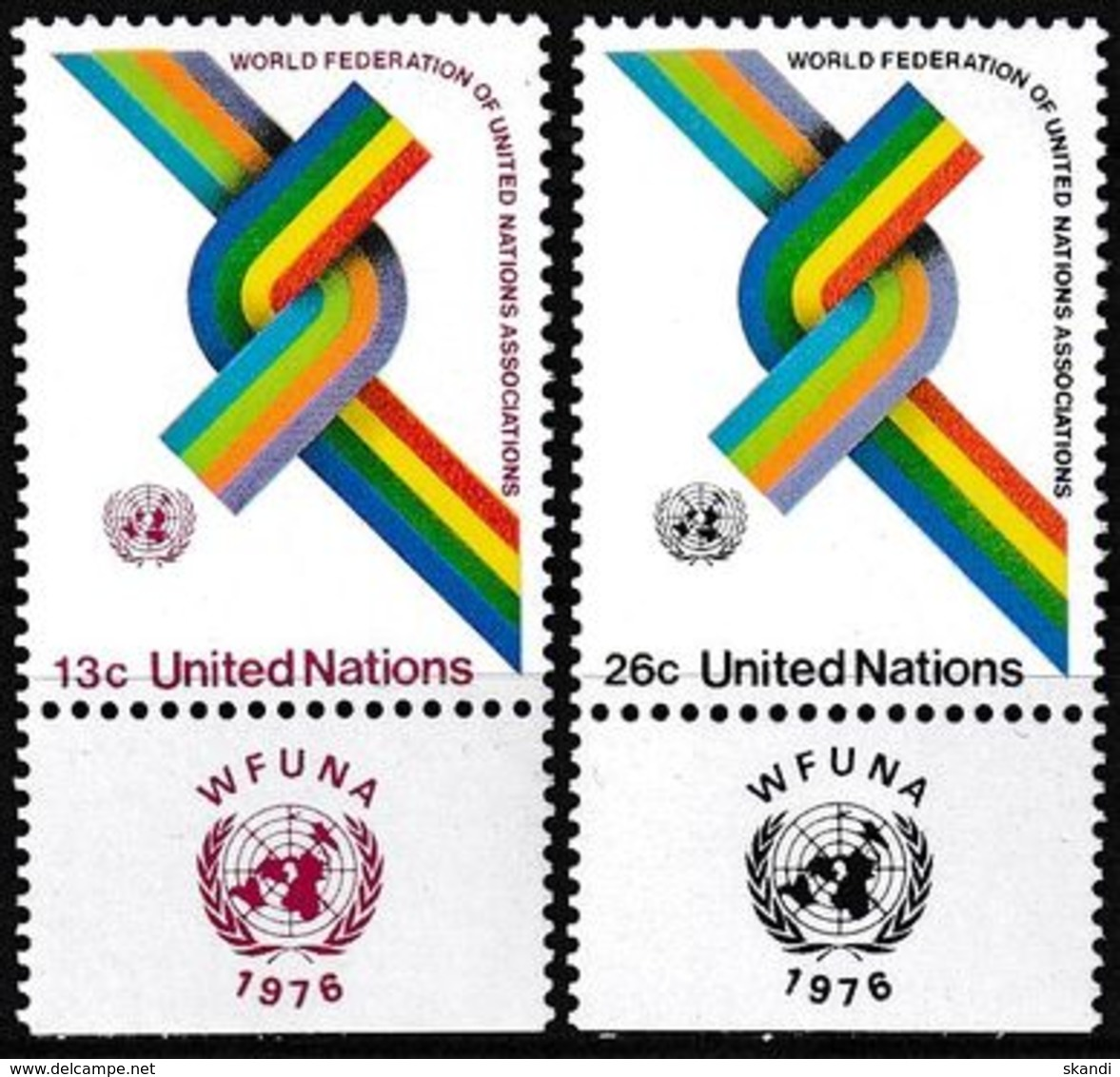 UNO NEW YORK 1976 Mi-Nr. 293/94 ** MNH - New York -  VN Hauptquartier