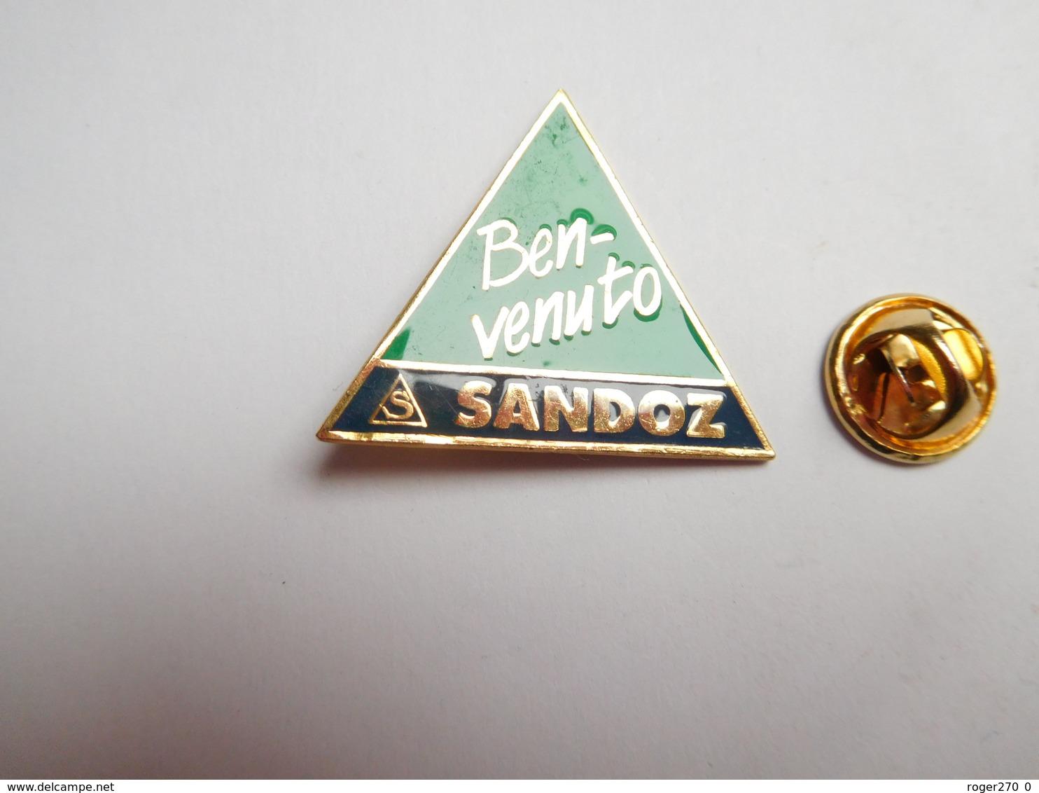 Beau Pin's , Laboratoires Sandoz Ben Venuto  , Agriculture , Nature , Signé WST Basel - Pin's & Anstecknadeln