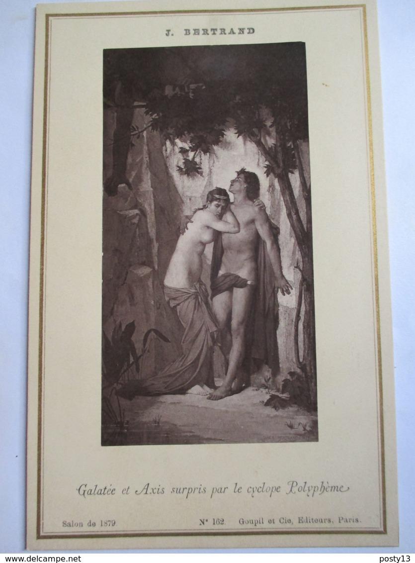 """Photographie Ancienne Format Cabinet - Editions GOUPIL - """" Galatée Et Axis..."""" Par J. Bertrand    - SUPERBE ! - Foto"""